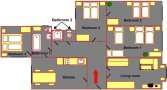 Prague Apartment Wenceslas Square - Dlouha 1B Floor plan