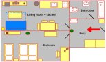 Prague Apartment Wenceslas Square - 704 pok 2 Floor plan