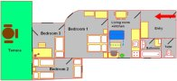 Prague Apartment Wenceslas Square - 707 pok 4 Floor plan