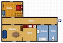Orion Hotel Apartments - Junior Suite with one bedroom Floor plan