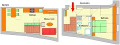 2 Prague Apartments - Apartment 16 Floor plan