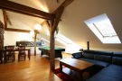 Top Apartments Prague - Klimentska Attic Living room
