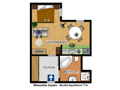 Prague Apartment Wenceslas Square - Studio 714 Floor plan