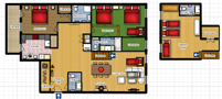 Your Apartments - Riverview Apartment 13 Floor plan